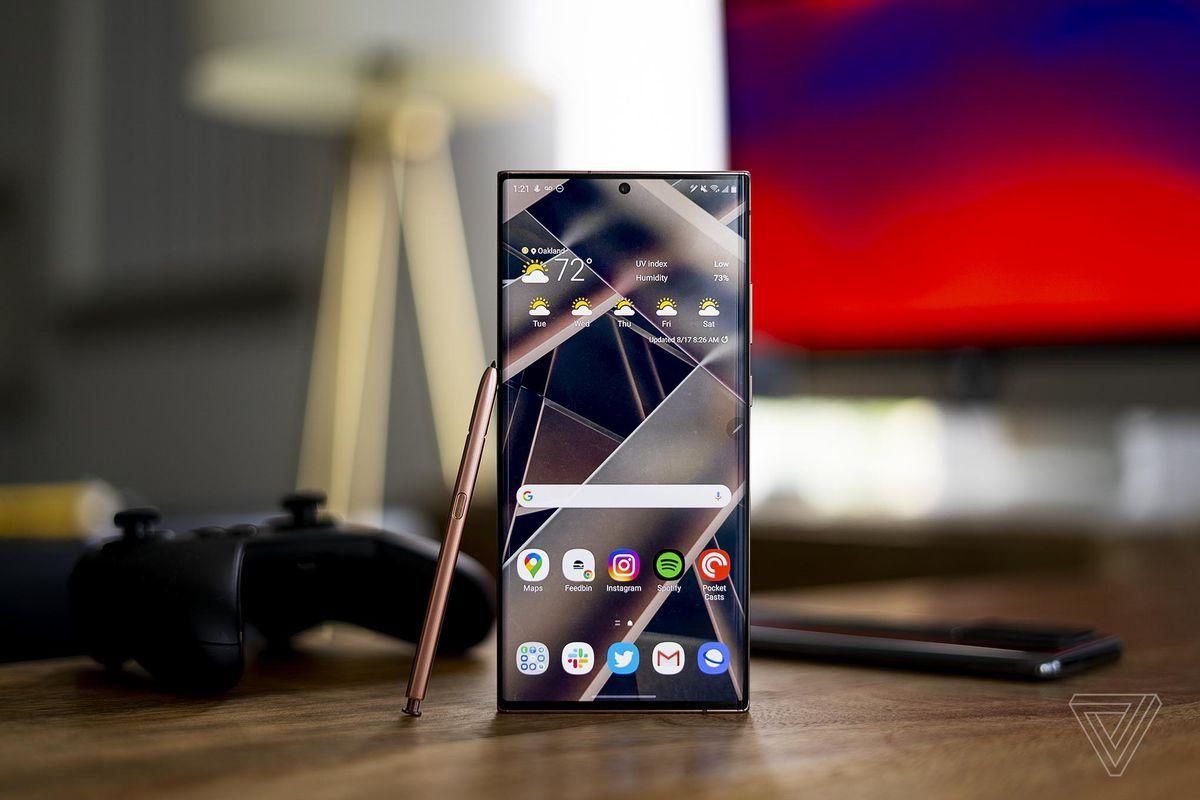 Samsung Note20 smartphone