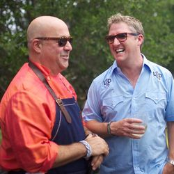 Zimmern and Love share the love. // photo by Raphael Brion