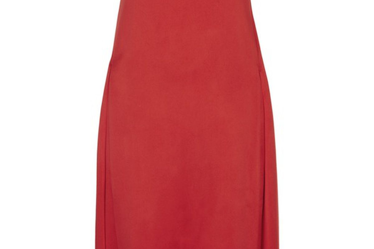 Jil Sander's satin drape-panel dress, $238 (orig. $1,590) at The Outnet tomorrow