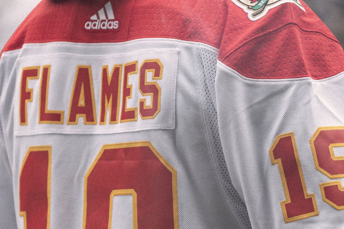 Calgary Flames Heritage Classic Jersey Reveal Retro White It Is Matchsticks And Gasoline