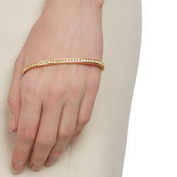 """<b>Fallon</b> Swarovski Crystal Palm Cuff, <a href=""""http://www.barneys.com/Fallon-Swarovski%C2%AE-Crystal-Palm-Cuff/00505034557846,default,pd.html?gclid=CIekoeyjzb8CFYlqfgodWjkArQ"""">$175</a> at Barneys"""