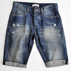 TOPMAN Masuka denim shorts in blue ($62.00)