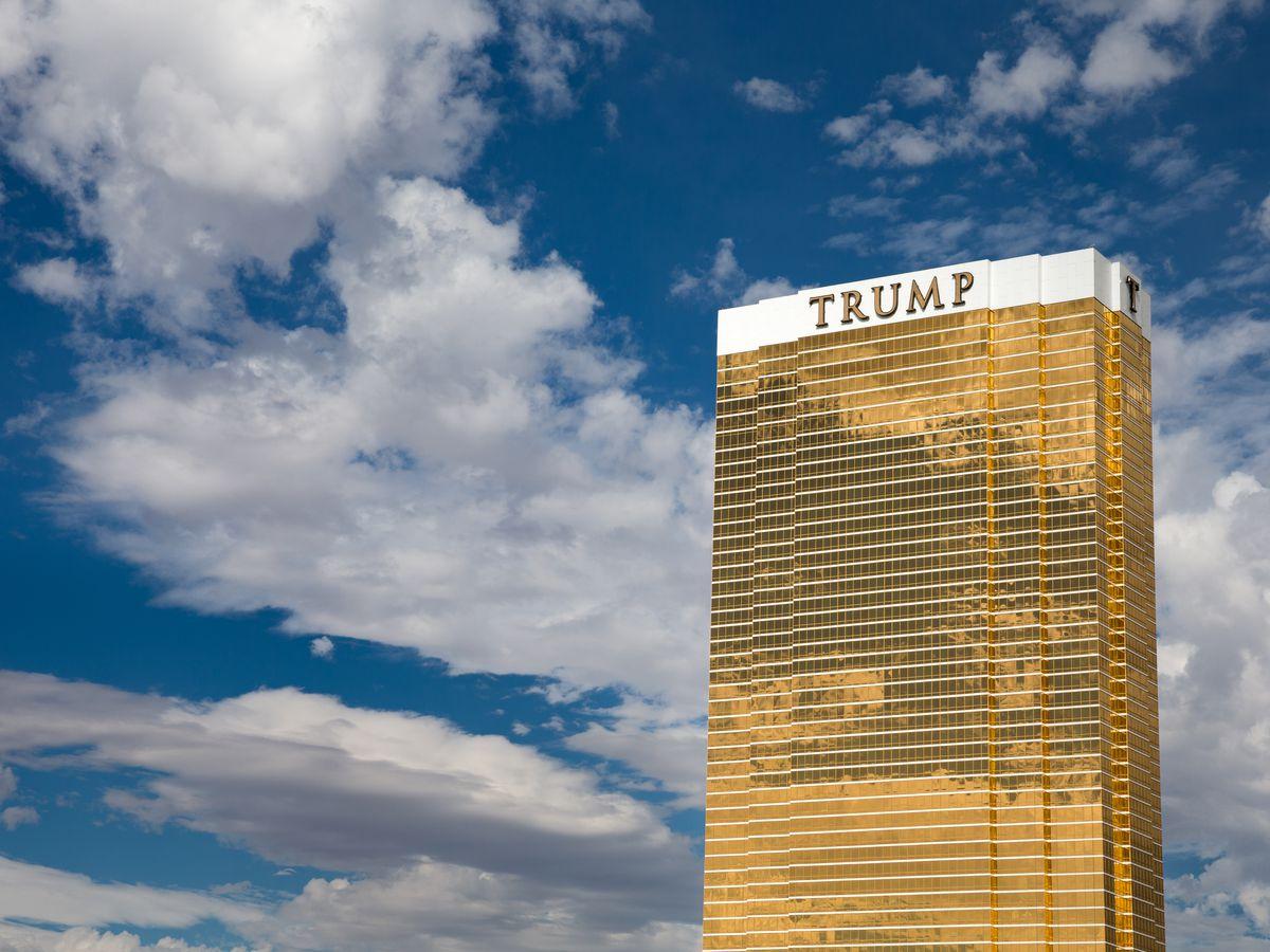 The Trump International Hotel Las Vegas, where Trump owns a 50 percent interest.
