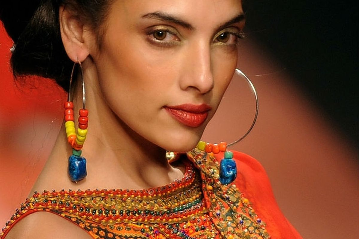 A look from India Fashion Week, via Huff Po