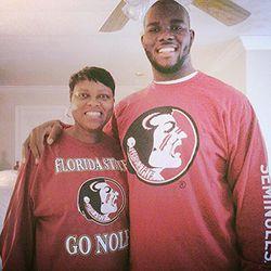 OT Roderick Johnson, and mom