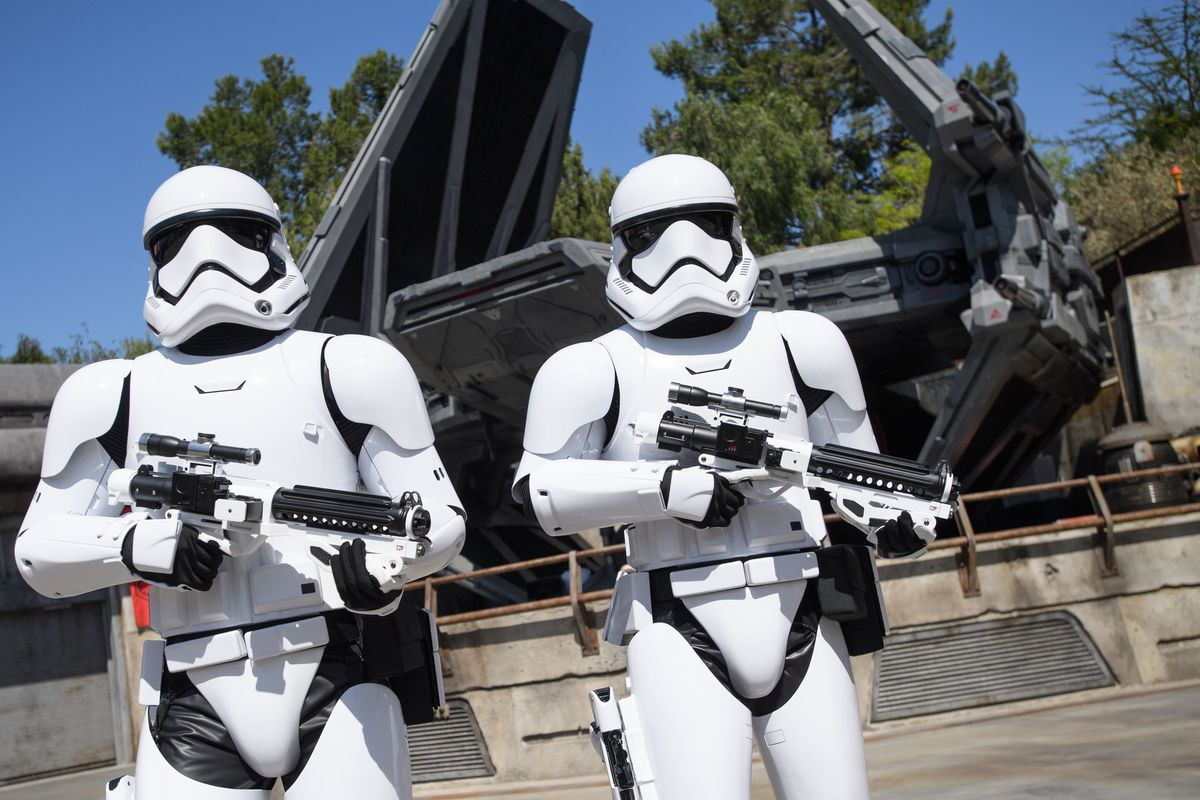Star Wars: Galaxy's Edge at Disneyland Park in Anaheim, California, and at Disney's Hollywood Studios in Lake Buena Vista, Florida, is Disney's largest single-themed land expansion ever at 14-acres each, transporting guests to Black Spire Outpost, a villa
