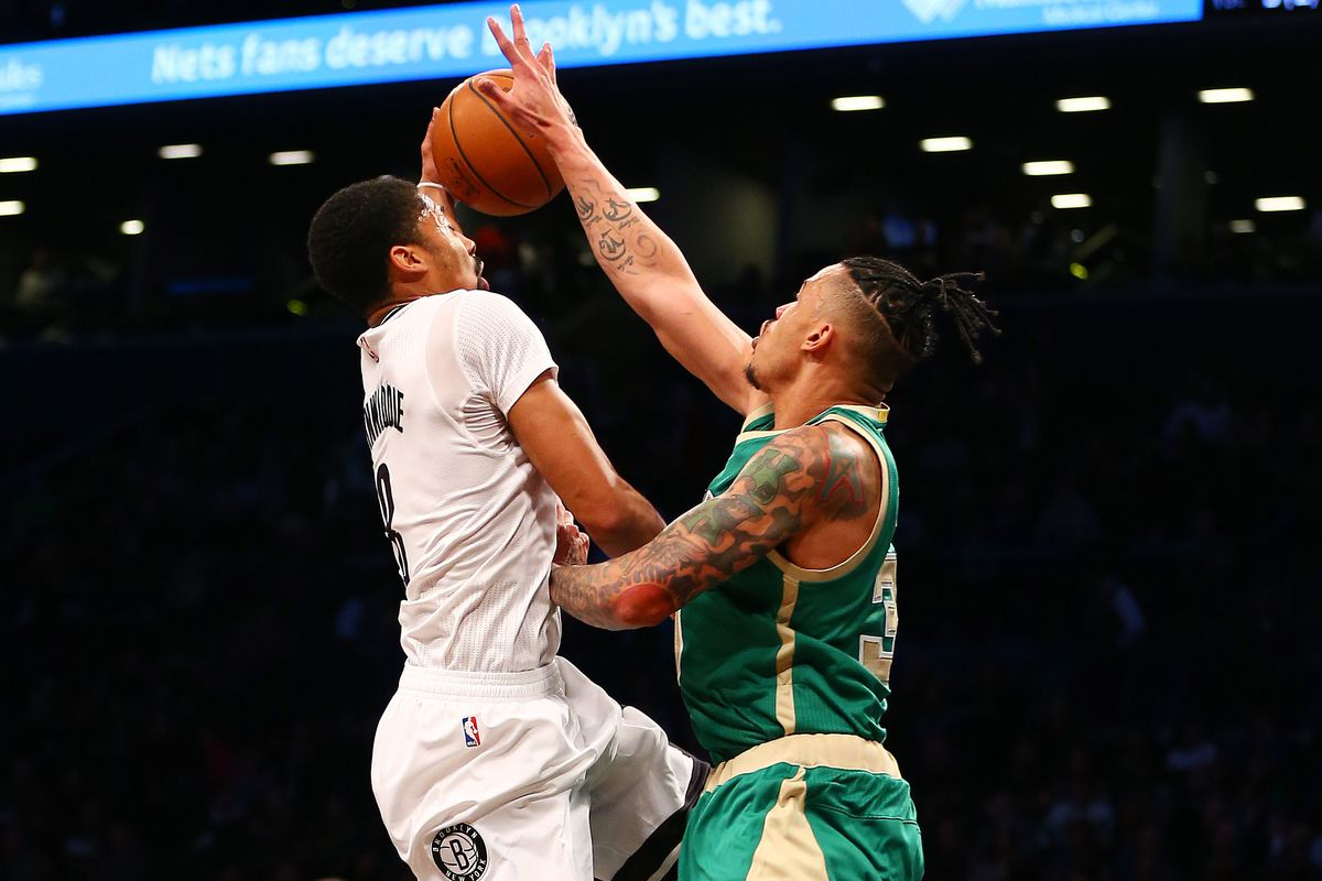 outlet store 4b18a 4d8e3 Celtics beat Nets 98-95 in slow-paced St. Patrick's Day game ...
