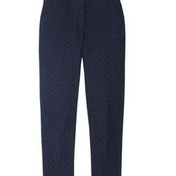 """<a href=""""http://www.net-a-porter.com/product/317623"""">Café embroidered textured-cotton Capri pants by <b>J.Crew</b>,</a> $70 (was $140)"""
