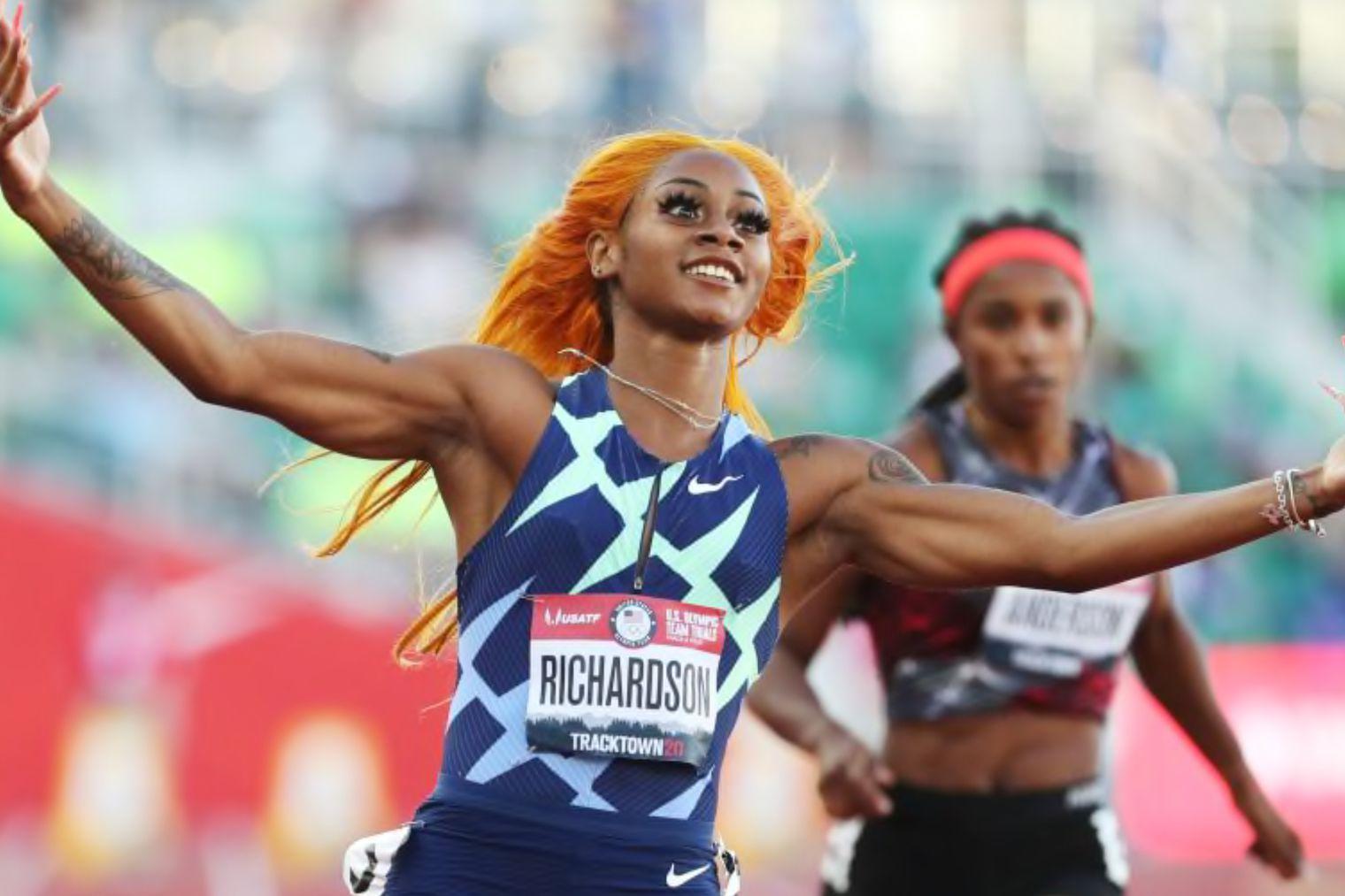 ShaCarri Richardson qualifies for Olympics, Sunset