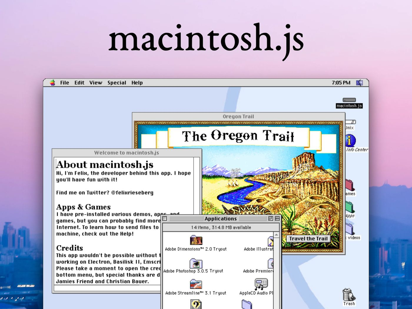 Mac Os 8 Is Now An App You Can Download And Install On Macos Windows And Linux The Verge