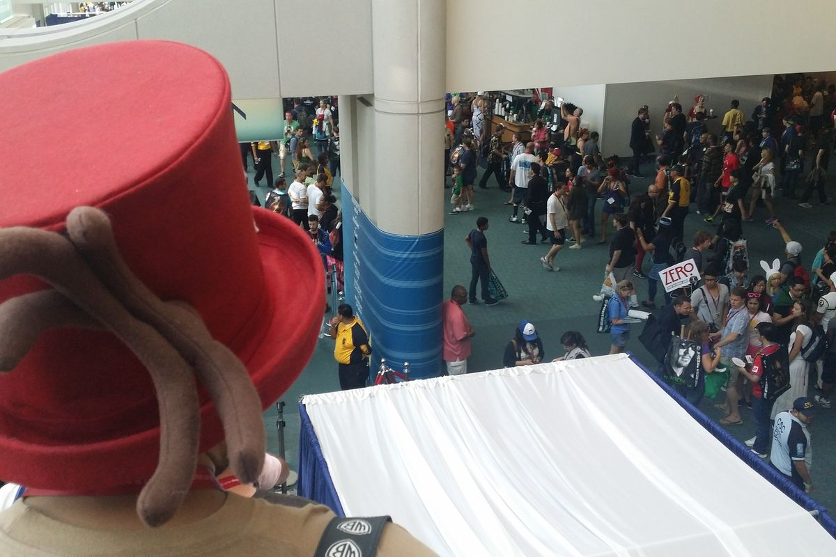 Crowds flood the San Diego Convention Center for Comic-Con International.