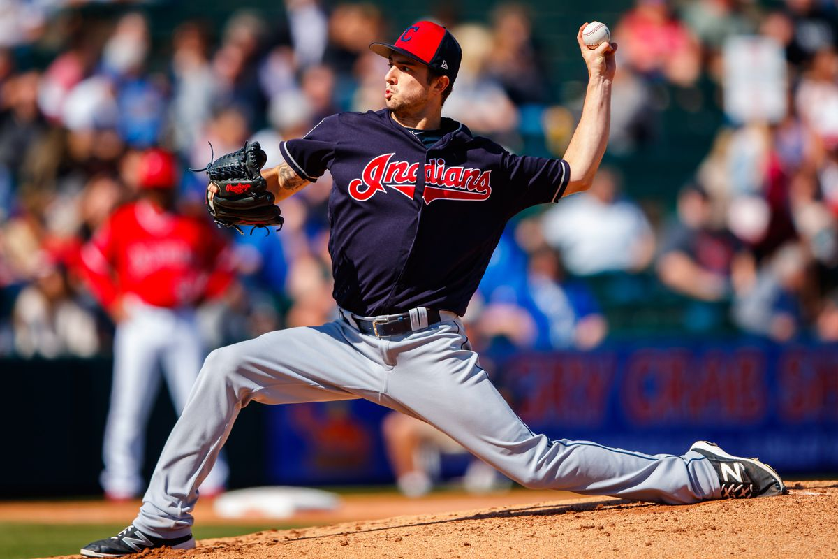 MLB: Spring Training-Cleveland Indians at Los Angeles Angels