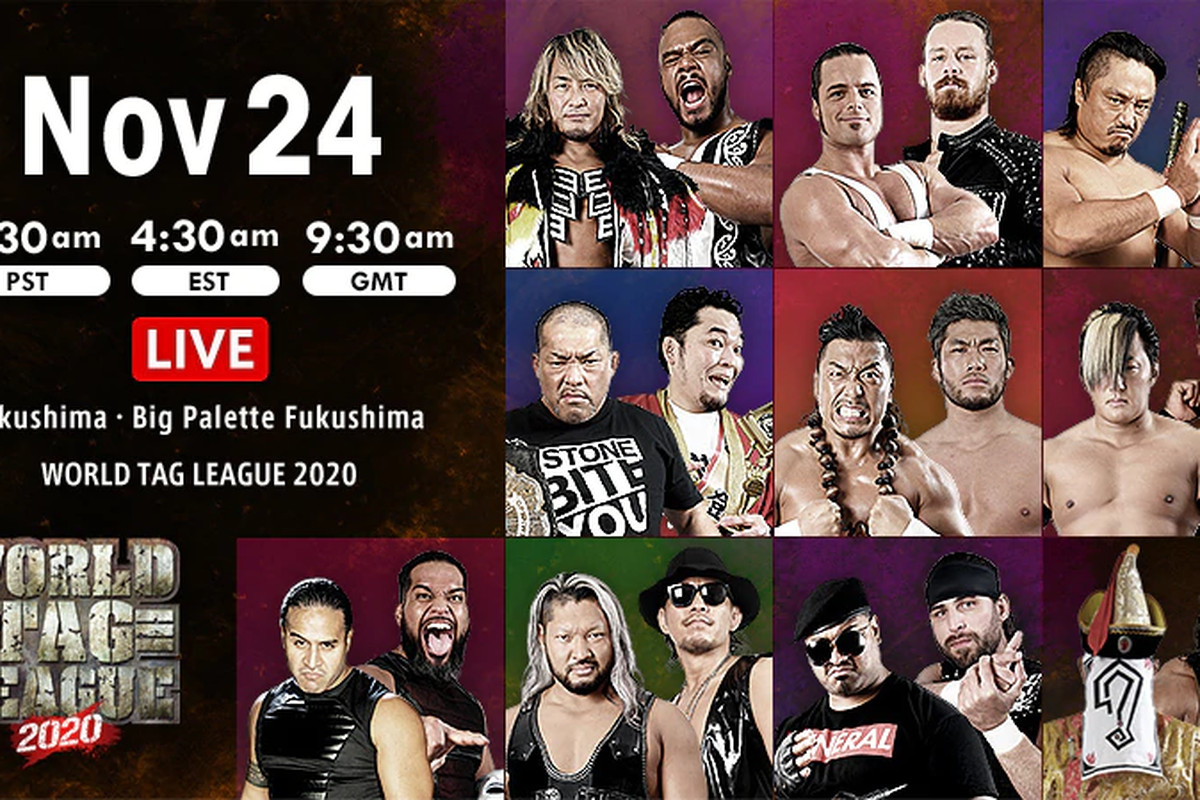 Graphic for night eight of NJPW World Tag League 2020