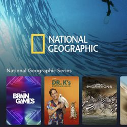 <em>The National Geographic page in the app.</em>