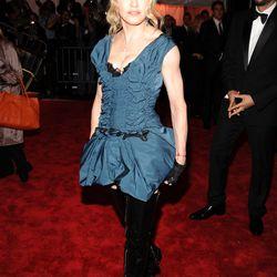 Madonna in Louis Vuitton in 2009.