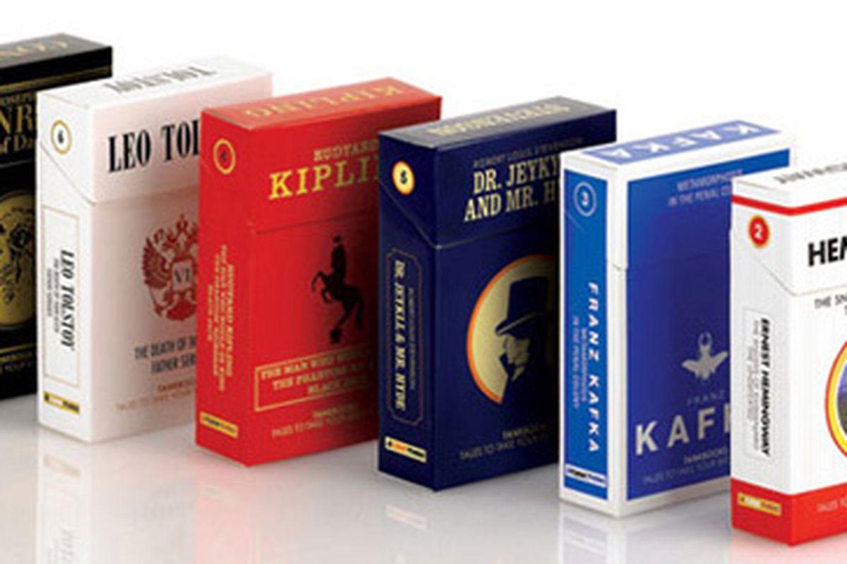 """Image via <a href=""""http://www.urlesque.com/2010/03/22/cigarette-books/"""">Urlesque</a>"""