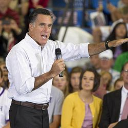 Republican presidential candidate Mitt Romney speaks during a campaign stop in Orange City, Iowa, Friday, Sept. 7, 2012.