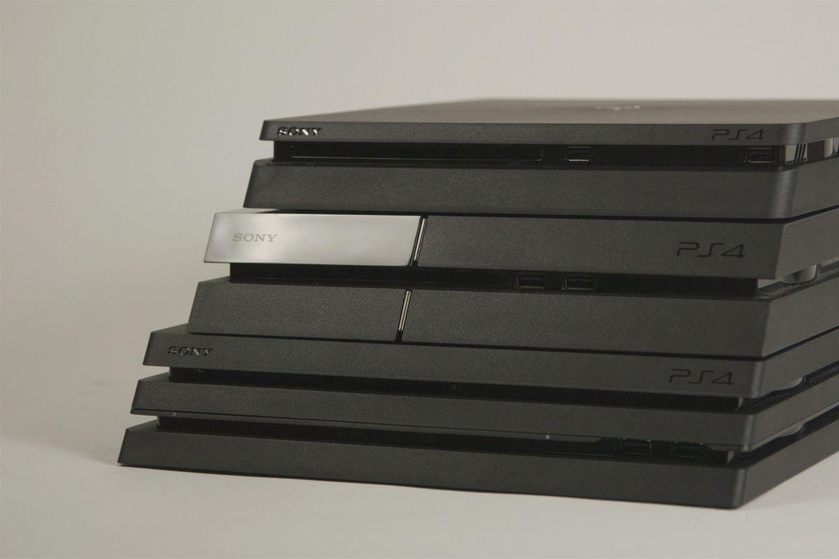 PlayStation 4 stack (PS4, PS4 Slim, PS4 Pro)