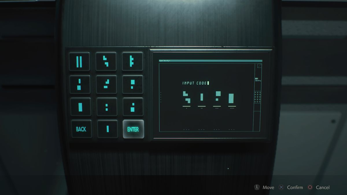 Greenhouse Control Room trophy code Resident Evil 2