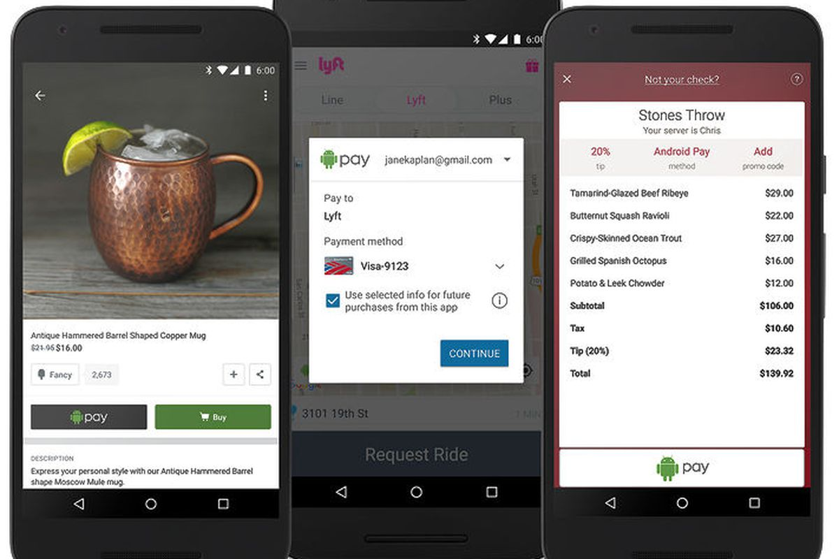 Android Pay Now Works For InApp Purchases Recode - Open table app for android
