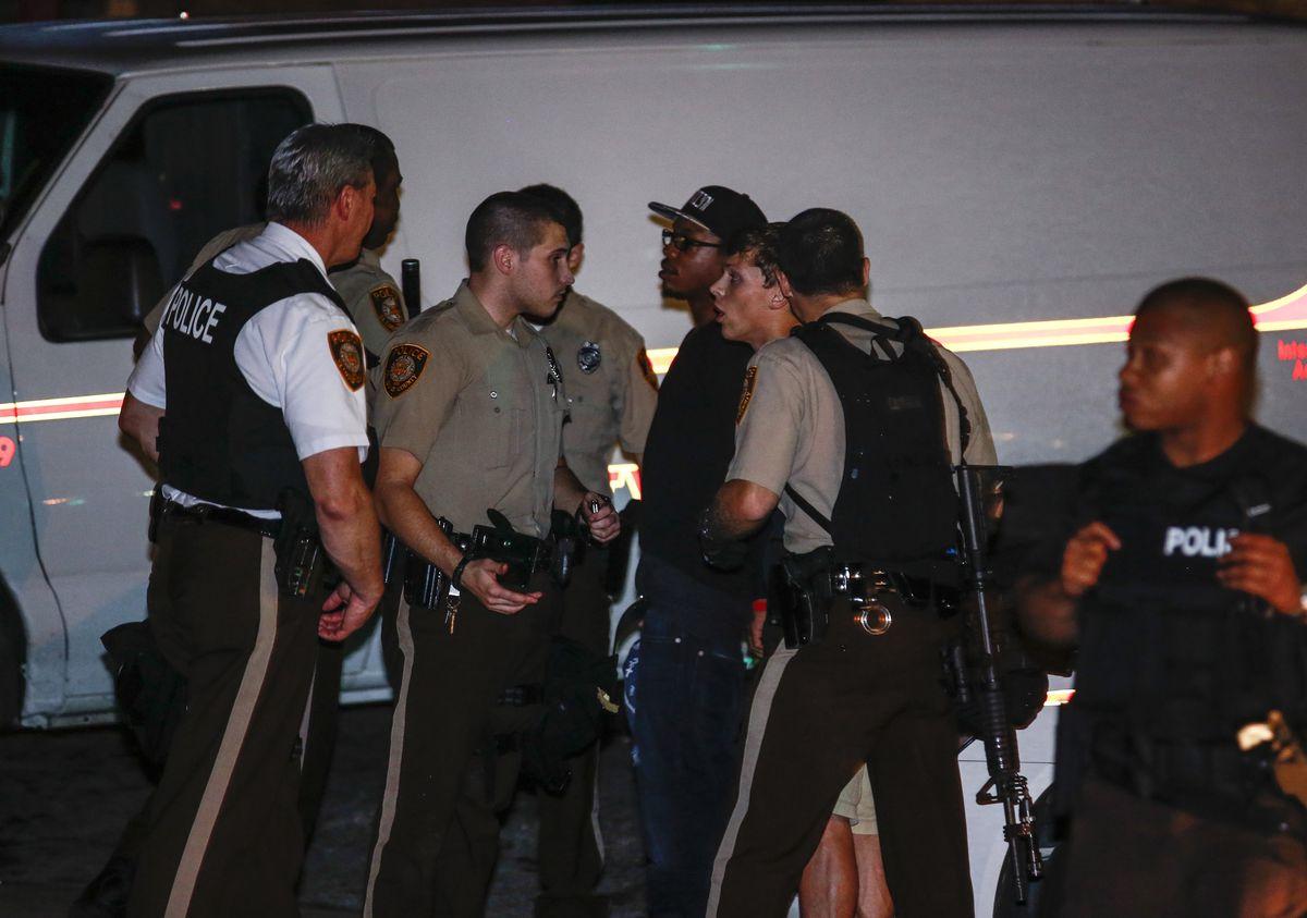 multiple police agencies Ferguson