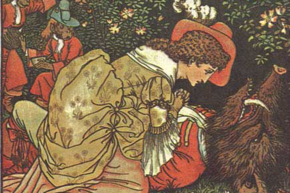 Crane, Walter. Illustration for Beauty and the Beast. London: George Routledge and Sons, 1874.