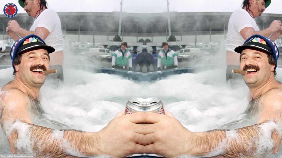 Buffalo Rumblings Zoom Background Hot Tub Tailgate