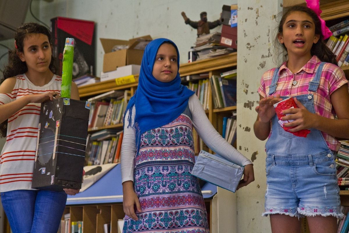Students in the HIAS Pa. Middle School Summer Education Program created musical instruments