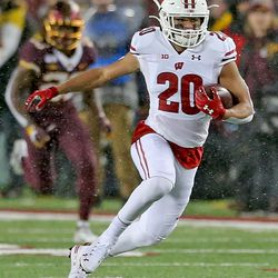 Isaac Guerendo during his 49-yard kickoff return. It would set up UW for a quick score.