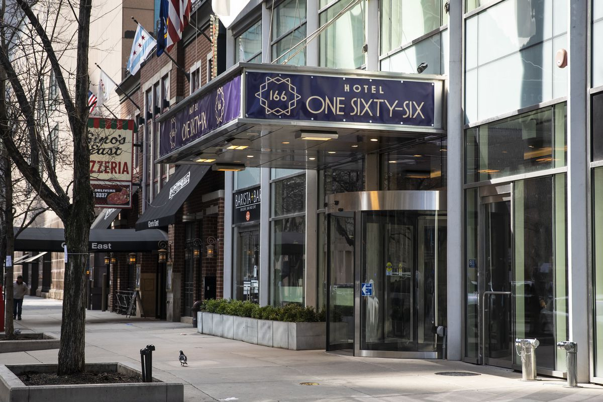 Five hotels are set to provide 1,000 beds by Tuesday and 2,000 beds by the end of the week to isolate patients who test positive for the coronavirus. Only Hotel One Sixty-Six, 166 E. Superior St., has signed on so far.