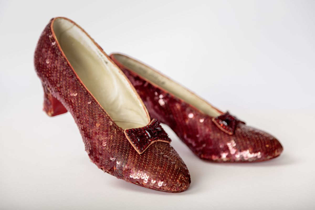 9fc879f58d76 The ruby slippers used for close-up shots in The Wizard of Oz. Exhibition  Curator Doris Berger says they're the best preserved pair of slippers worn  by Judy ...