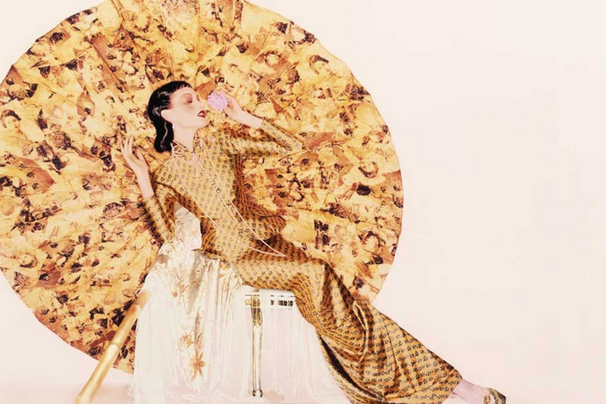 """John Galliano for Dior, fall/winter 1997-1998; Photo by Nick Knight, courtesy of the Metropolitan Museum of Art, via <a href=""""http://www.wwd.com/fashion-news/fashion-features/costume-institute-to-focus-on-china-7903904"""">WWD</a>"""