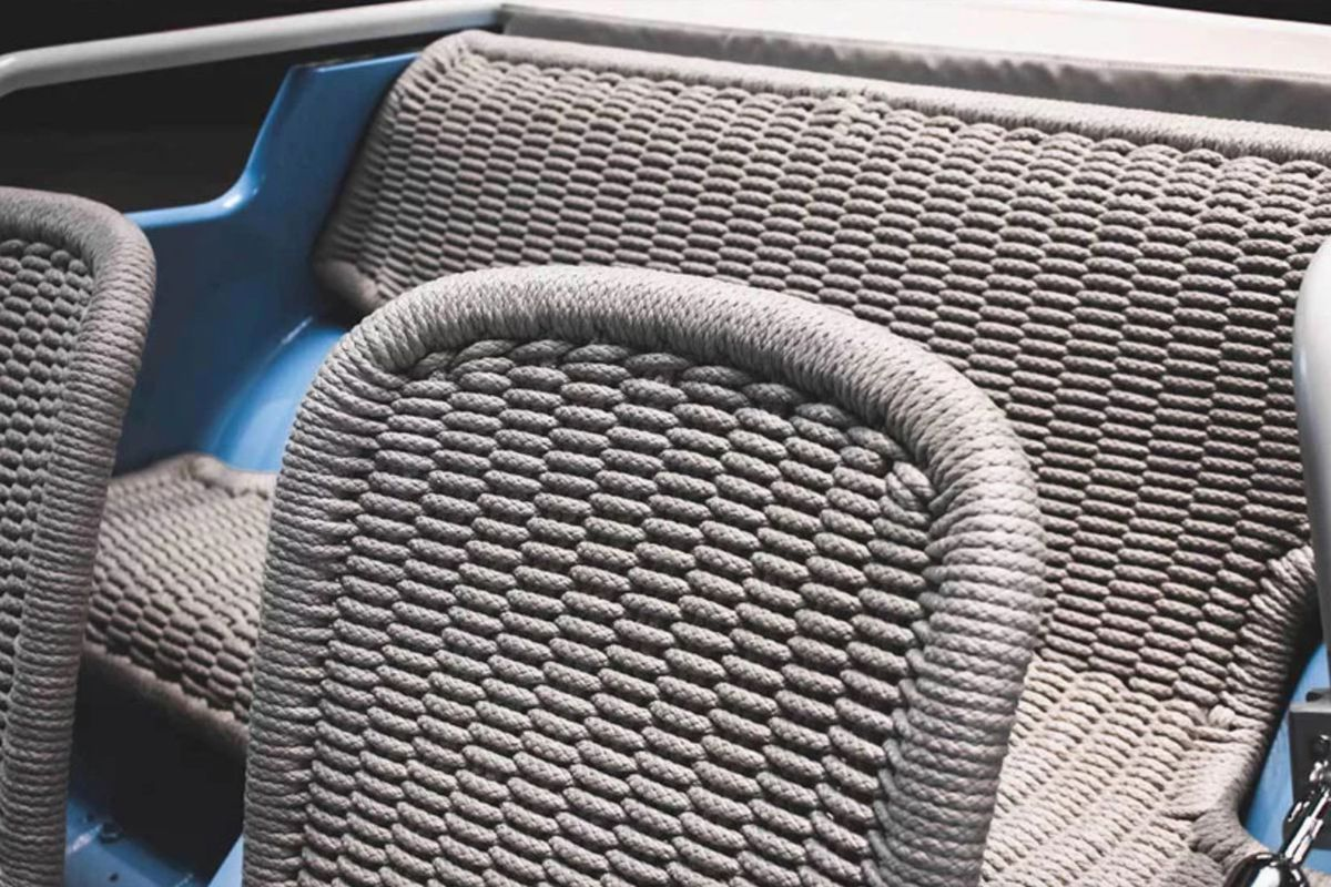 Car seats made from woven rope