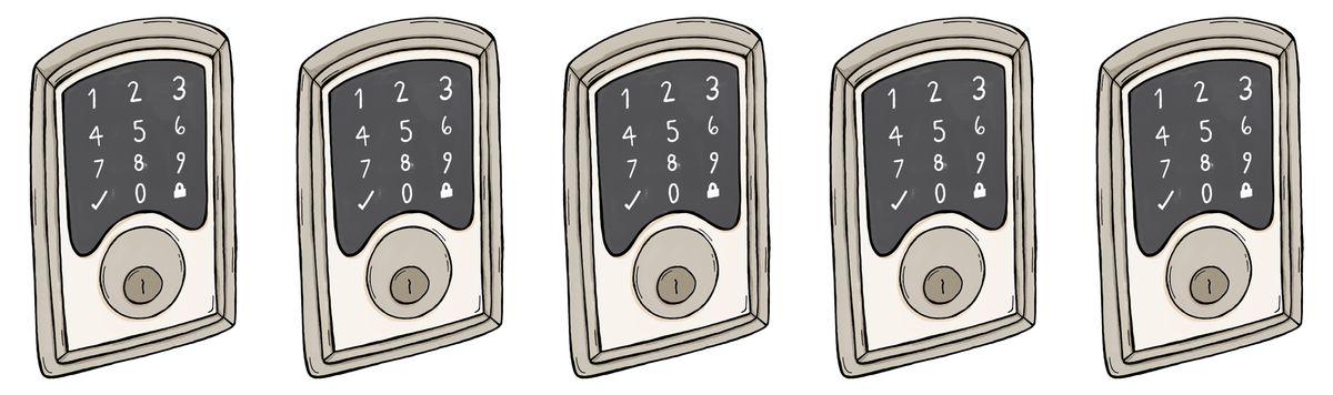 illustrated keypad locks