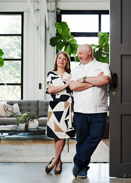 Gina Hopkins and chef Linton Hopkins