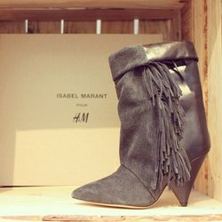 """A pair of boots from the pop-up shop. Photo <a href=""""http://instagram.com/p/f4ie6agUSX/#"""">via</a>."""