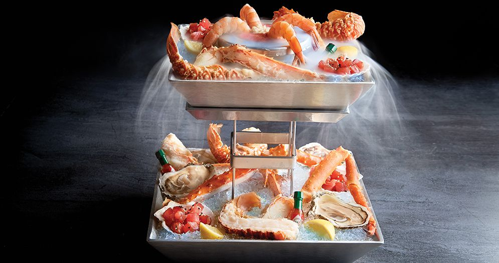 The seafood tower at Chart House