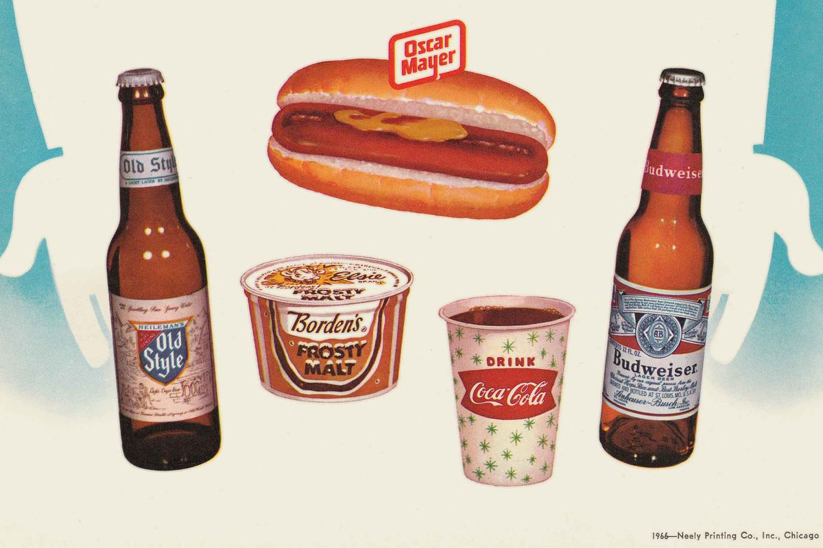 The back of the 1966 Wrigley scorecard, showing Old Style as a beer choice