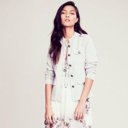 """<b>Anna Caplan, <a href=""""http://dallas.racked.com"""">Racked Dallas</a> editor:</b>: """"I just bought two different colors in this <b>Free People</b> <a href=""""http://www.freepeople.com/sale-sale-jackets-outerwear/clear-vision-military-jacket/"""">military-style j"""