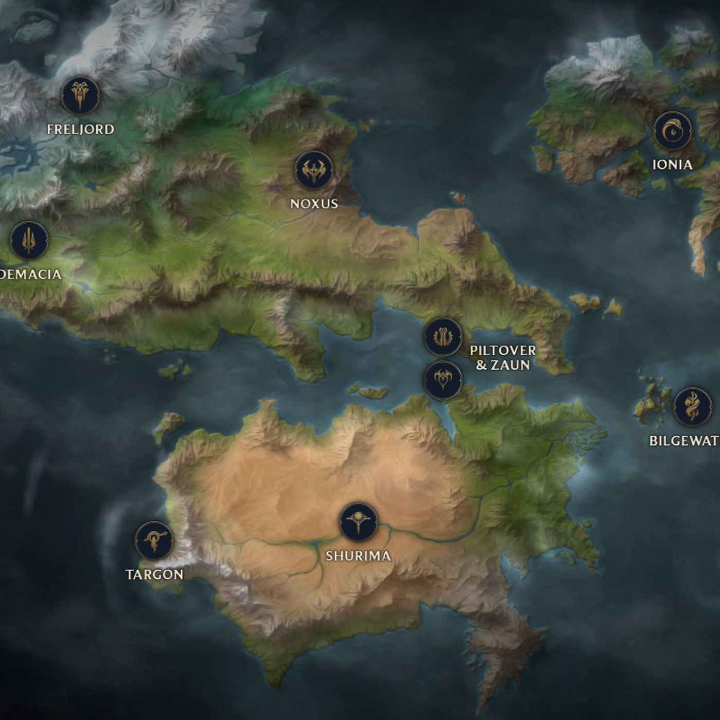 Check Out This Detailed And Interactive Map Of Runeterra The Rift
