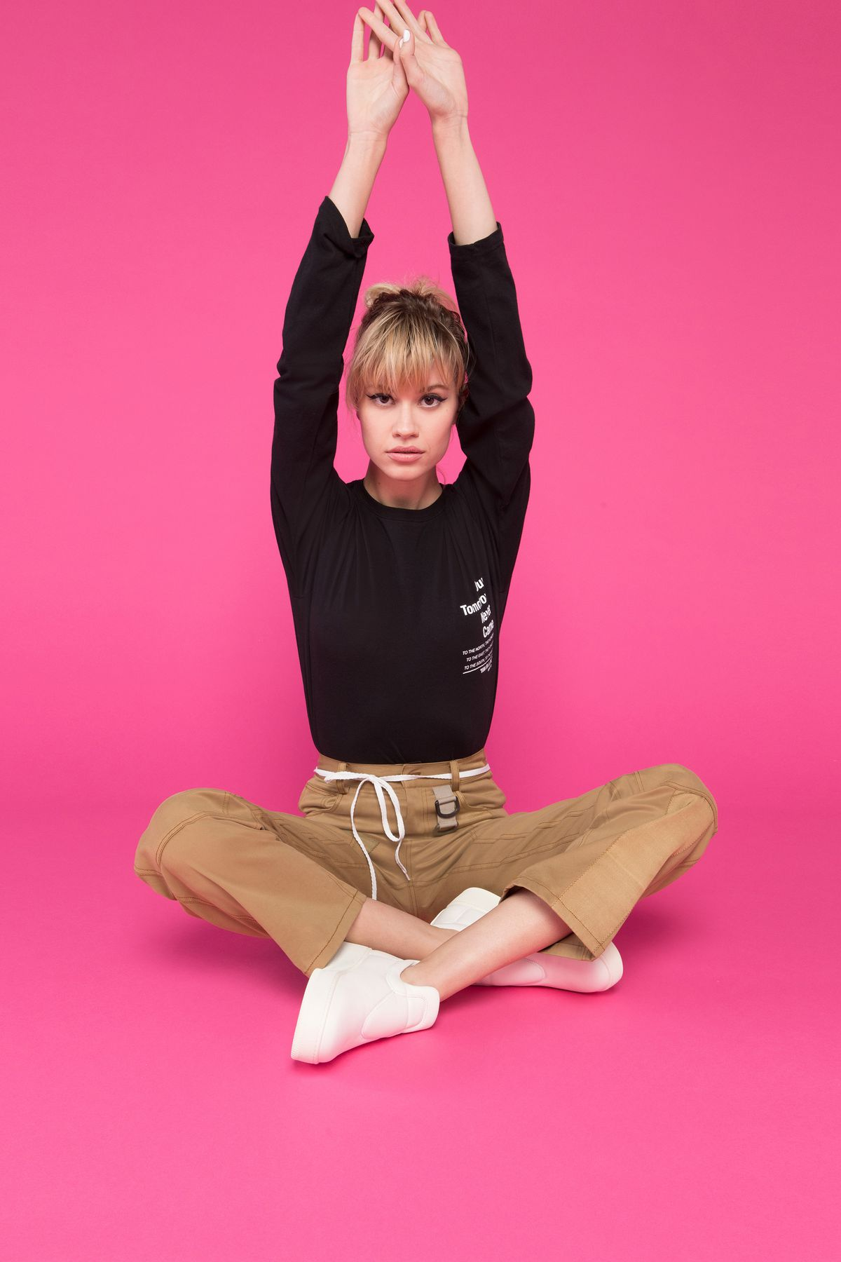 A model in Korean fashion brand Hyein Seo