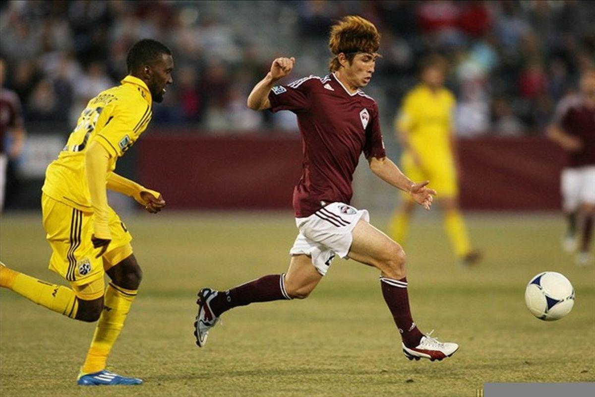 Right Back Kosuke Kimura had a lot of joy against the Crew.  Can Richard Eckersley do the same?
