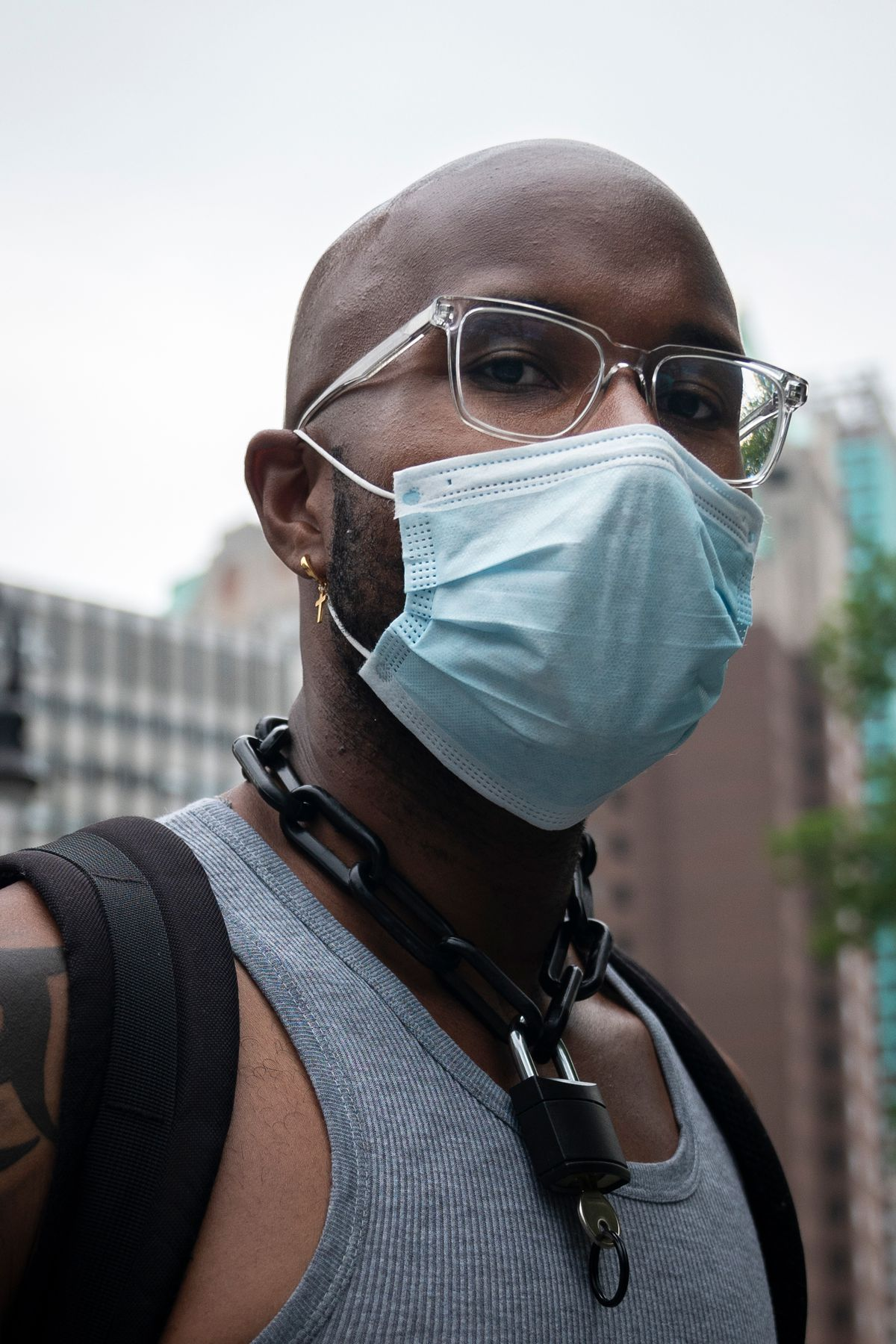 """""""This is the second war that I'm fighting; I'm fighting in the hospital and out here on the street,"""" said Cameron, a registered nurse, June 5, 2020."""