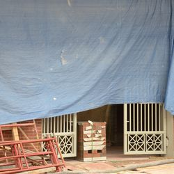 3:48 p.m. New gates installed also installed at one of the Waveland Avenue side gates -