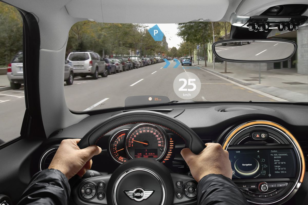 ad4ec8930bf7 Share All sharing options for: BMW's Mini Demos Augmented Reality Glasses  for Drivers