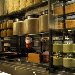 The Asian kitchen at Bacchanal Buffet.