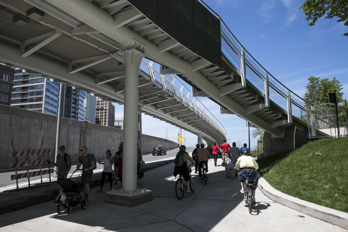 Navy Pier flyover reopened after second phase of construction
