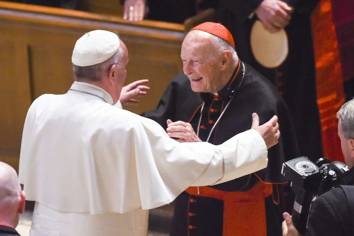Image result for pictures of Cardinal Theodore McCarrick being charged