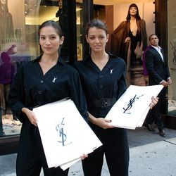The girls outside the YSL boutique on 57th Street