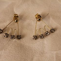 """Stud Earring Jackets, <a href=""""https://www.etsy.com/listing/196004495/stud-earring-jackets?ref=sr_gallery_5&ga_search_query=ear+jacket&ga_search_type=all&ga_view_type=gallery"""">$13</a> from chumlove on Etsy"""